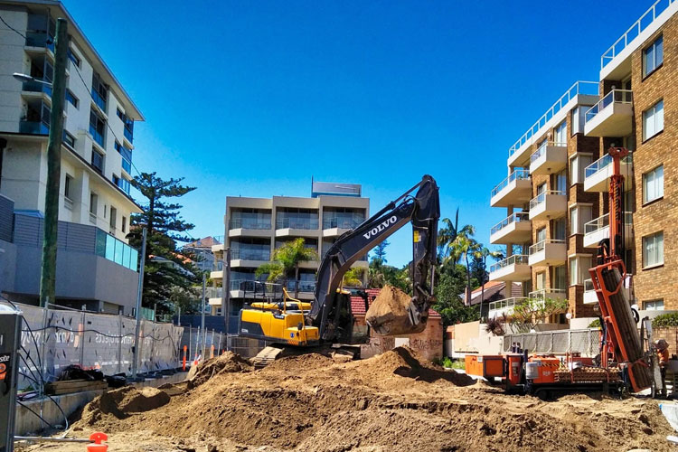 Manly Victoria Parade Remediation Basement Shoring Excavation